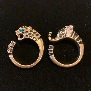 Elephant or Leopard Rings Size 10